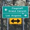 Flagstaff Grand Canyon LA Freeway Sign Tourism