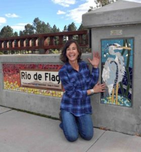 Local mosaic artist decorates beloved bridge with images from nature