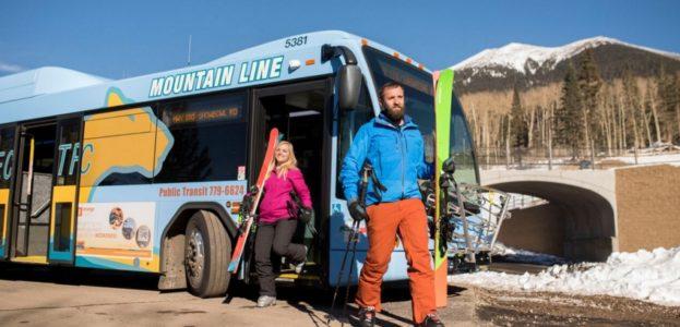Mountain Express skiers