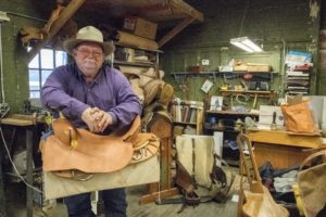 Grand Canyon Saddle Maker Enjoying the Ride
